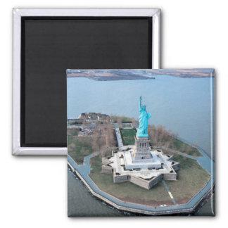 ímã da estátua da liberdade ímã quadrado