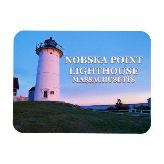Ímã da foto de Massachusetts do farol do ponto de