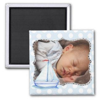 Ímã da foto do bebê do veleiro ímã quadrado