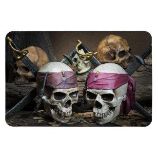 Ímã da foto dos crânios do pirata