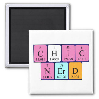 Ímã da frase da mesa periódica de ChicNerd Ímã Quadrado