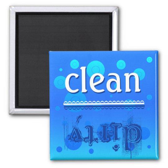 Ímã da máquina de lavar louça - limpo ou sujo? ímã quadrado