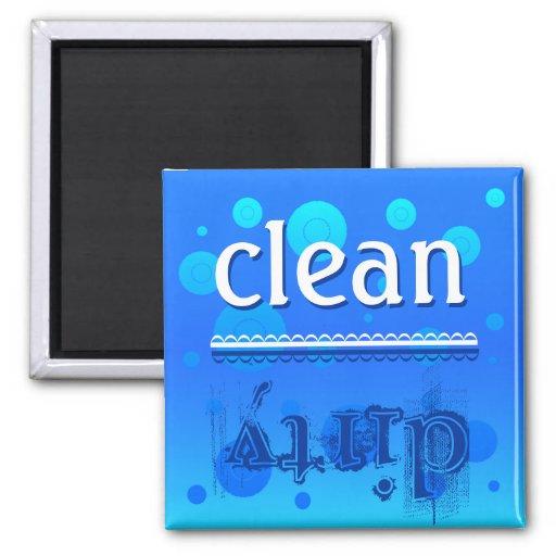 Ímã da máquina de lavar louça - limpo ou sujo? imãs de geladeira