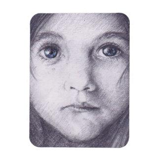 ímã da menina dos olhos azuis