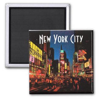 Ímã da Nova Iorque (néon) Ímã Quadrado