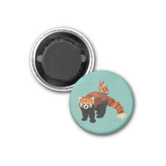 Ímã da panda vermelha & da coruja ímã redondo 2.54cm