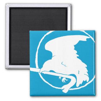Ímã da pé-de-cabra branco/azul, circularmente e qu ímã quadrado