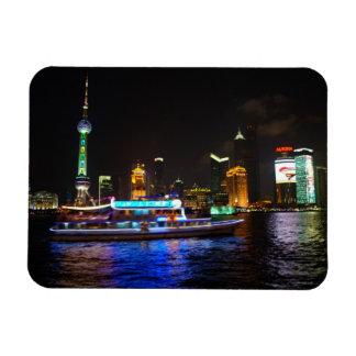 Ímã da skyline da noite de Pudong