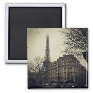 Ímã da skyline da torre Eiffel Ímã Quadrado