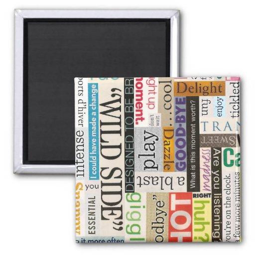 Ímã da tipografia da frase do impressão do compart imã de geladeira