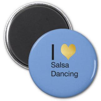 Imã Dança Playfully elegante da salsa do coração de I
