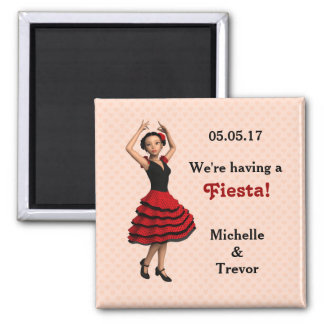 Imã Dançarino bonito do Flamenco (personalizado)