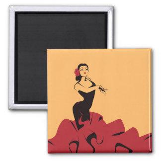 Imã dançarino do flamenco em uma pose espectacular