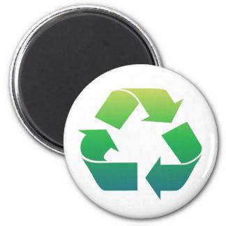 Ímã das setas do sinal do reciclar ímã redondo 5.08cm
