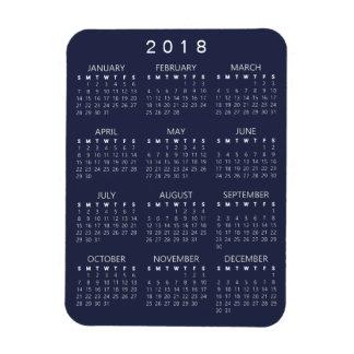 Ímã de 2018 calendários - obscuridade - cinzas