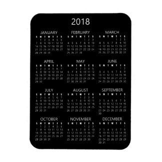 Ímã de 2018 calendários - preto