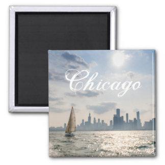 Ímã de Chicago dos grandes lagos Ímã Quadrado