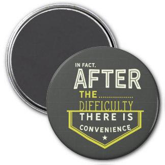 Imã de facto, após a dificuldade há uma conveniência