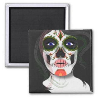 Imã de geladeira da máscara do Dia das Bruxas do