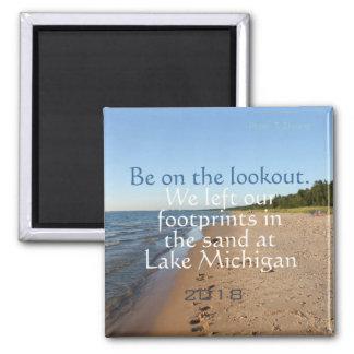 Imã de geladeira datado do viagem da praia do Lago