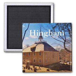 Imã de geladeira de Hingham Massachusetts, igreja