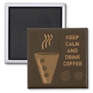 Imã de geladeira do café