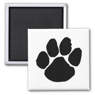 Imã de geladeira do impressão da pata do cão