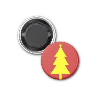 Imã de geladeira Funky amarela da árvore de Natal