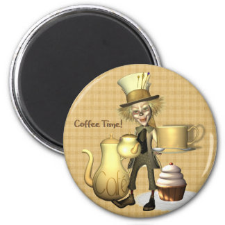 Imã de geladeira louca do tempo do café do Hatter