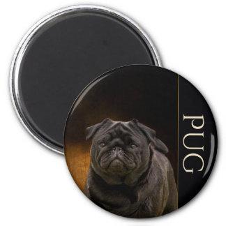 Imã de geladeira preta do Pug