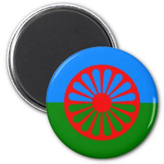Imã de geladeira Romani da bandeira