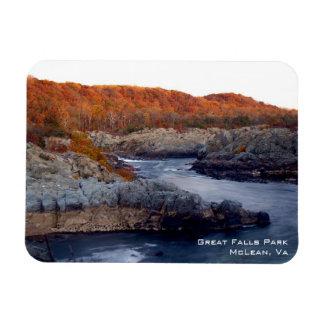 Ímã de Great Falls Foto Com Ímã Retangular