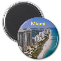 Ímã de Miami Beach Ímã Redondo 5.08cm