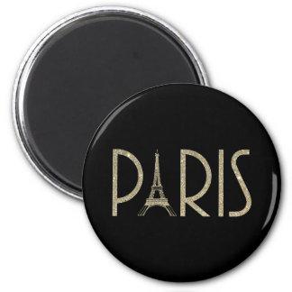 Ímã de PARIS do brilho Ímã Redondo 5.08cm