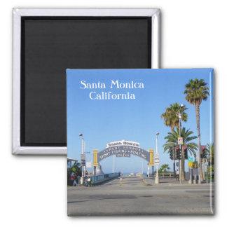 Ímã de Santa Monica! Ímã Quadrado