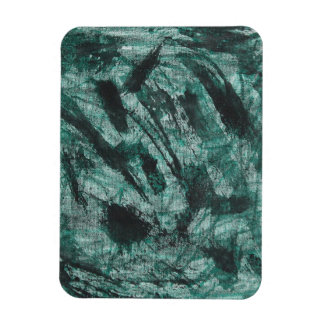 Ímã De tinta preta no marcador verde