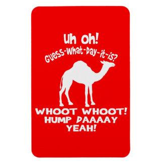 Ímã de Whoot Whoot Flexi do camelo do dia de corcu Foto Com Ímã Retangular