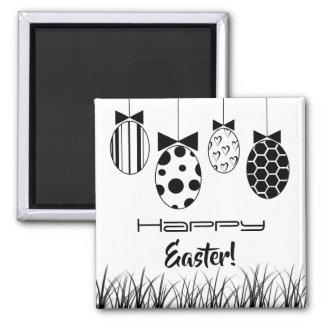 Imã Decoração preto e branco dos ovos de felz pascoa