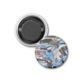 Imã decorative collage magnet