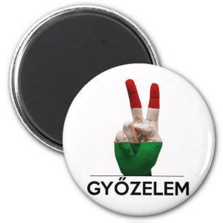 Imã Dedo húngaro da paz da v-forma da mão da vitória