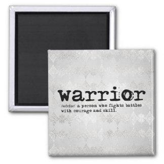 Imã Definição metálica de prata do guerreiro do falso