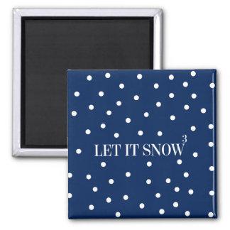 Imã Deixais lhe para nevar ímã do feriado do Natal