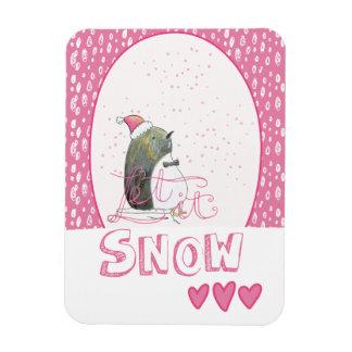 Ímã Deixais lhe para nevar Natal bonito do pinguim de