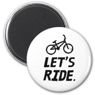 Imã Deixe-nos montar o humor do ciclista da cidade e