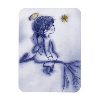 Ímã Desejo azul do anjo do matiz