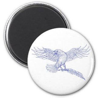 Imã Desenho do Quill do carregando do corvo