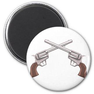 Imã Desenho do revólver da pistola isolado em