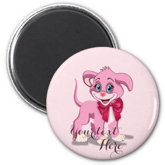 Imã Desenhos animados do filhote de cachorro do rosa