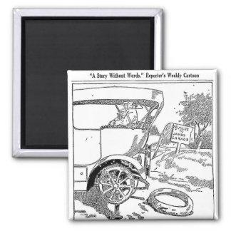 Imã Desenhos animados do pneu 1917 liso
