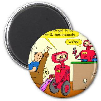 Imã desenhos animados do robô de 875 15 segundos nano